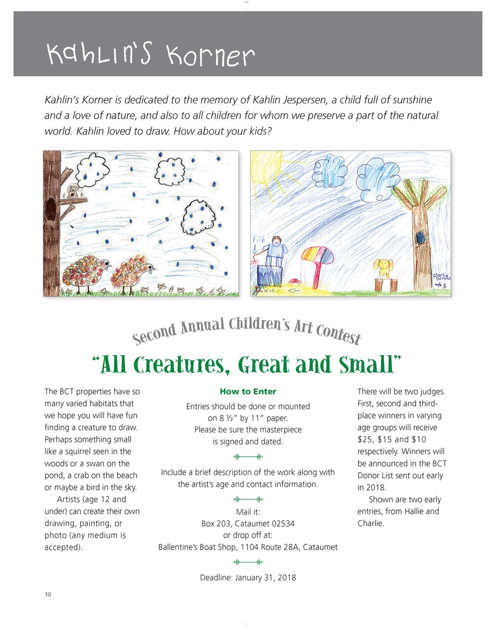 BCT 2nd Annual Children's Art Contest