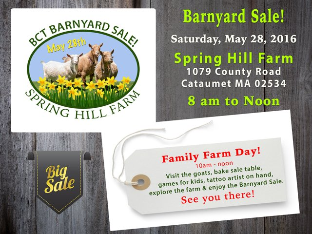 Barnyard Sale at Spring Hill Farm - May 28th